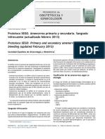 Estudio de Amenorrea 2014