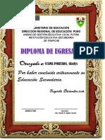 Diploma de Egresado