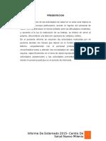 Informe Centro de Salud Milenio Diana