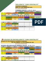 Horarios de Recuperacion y Examenes Supletorio 8-9-10