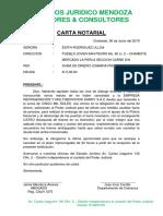 Carta Notarial Embargo