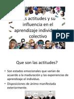 Las Actitudes y Su Influencia en El Aprendizaje
