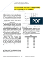 Evaluation of Static Modulus of Elasticity Depending on Concrete Compressive Strength