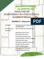 Informe 2 Completo Elaboracion de Pan