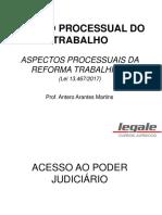 Antero Arantes Martins - Processo Do Trabalho Em Acordo Com a Reforma - 20.08 a 23.08.2018