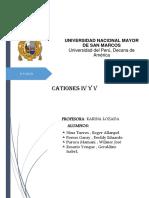 Encargo Cationes IV y V