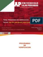 Aud Tibu Semana 4 - Programas de Verificacion