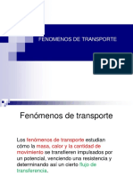 1ra Clase Fenomenos de Transporte Introduccion