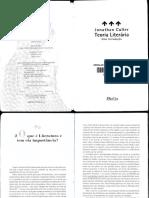 Jonathan Culler - Teoria Literária (Cap. 2)