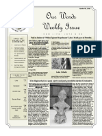 Newsletter Volume 10 Issue 20