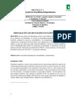 Practica 1 Condensación Aldolica