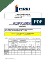 b.i Kitchen Exhaust Duct Insatallation Methodology