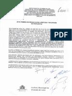Acta de Apertura Archivo IMUVI