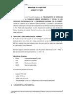 2.1_memoria Descriptiva Arquitectura