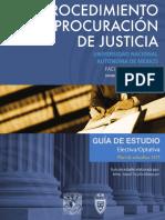 Procedimiento. procuracion de justicia