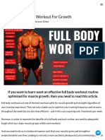 The Best Science-Based Full Body Workout for Growth (11 Studies)