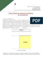 Cómo Construir Rúbricas o Matrices de Valoración - PDF