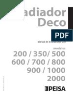 Manual Radiador Deco 148x210