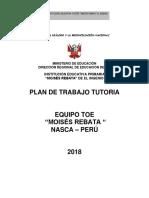 Plan de Tutoria 2018
