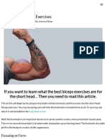Short Head Biceps Exercises