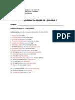 guia de gramatica taller 8°