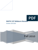 MATH 137 Midterm Review Package