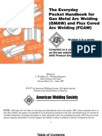 AWS -The Everyday Pocket Handbook for Gas Metal Arc Welding GMAW and Flux Cored Arc Welding FCAW