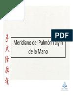 13_Meridiano Del Pulmon Taiyin de La Mano