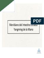 14_Meridiano Del Intestino Grueso Yangming de La Mano