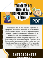 Antecedentes Del Inicio de La Independencia de México