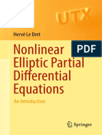 (Universitext) Hervé Le Dret - Nonlinear Elliptic Partial Differential Equations_ an Introduction-Springer (2018)