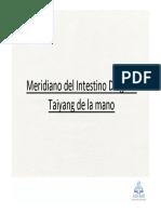 18_Meridiano Del Intestino Delgado Taiyang de La Mano
