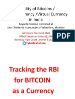 Legality of Bitcoins by Prashant Mali