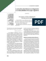 LA NATURALEZA DUAL DEL PROCESO DIAGNOSTICO Y SU VULNERABILIDAD A LOS SESGOS COGNTIVOS.pdf
