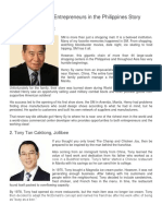 Top 10 Successful Entrepreneurs in the Philippines Story