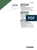 Casio Projector Setup Manual