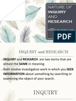 Unit 1 Lesson 1 (Nature of Inquiry and Research