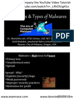 Computer Malwares YouTube Lecture Handouts