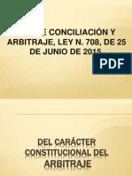 LEY DE CONCILIACIÃ_N Y ARBITRAJE, LEY N