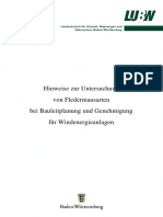 Hinweise zur Untersuchung von Fledermausarten bei Bauleitplanung und Genehmigung für Windenergieanlagen