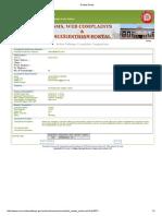 Railway Complaint format