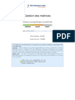 Matlab Introduction Gestion Matrices