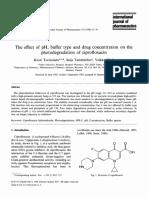 photo degradation of Ciprofloxacin