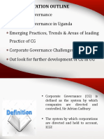 Corporate Governance in Uganda