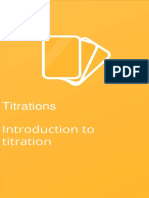 Introduction to Titration