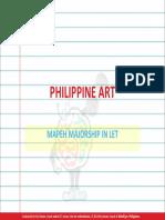 Philippine Art MAJORSHIP IN LET
