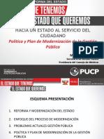 Política y Plan Modern de Adm Pública Ppt