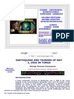 Earthquake and Tsunami of May 3, 2006 in Tonga - Dr. George Pararas-carayannis