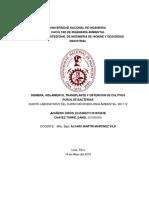 Laboratorio Número 05 de microbiologia ambiental  UNI7
