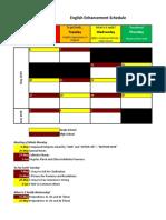 English Enhancement Schedule